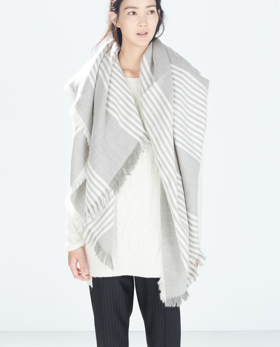 Buy it: Zara's shawl scarf
