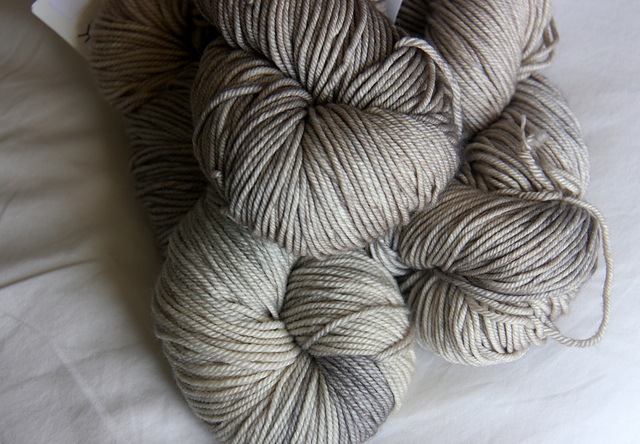 Leizu DK in 'Birch', I have it in Worsted too.... I have a problem. Ahem.