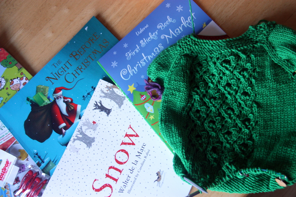 Christmas traditions- books and knitting