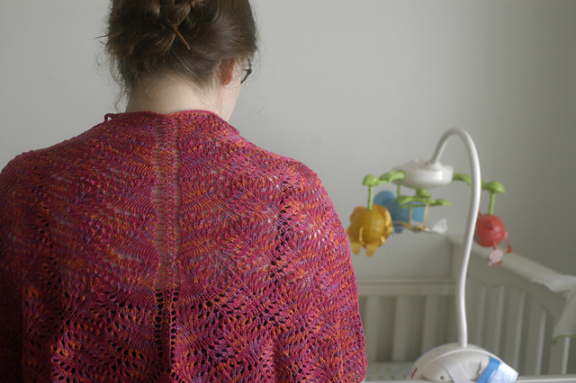 Firebird Flight Shawl by Lara Neel