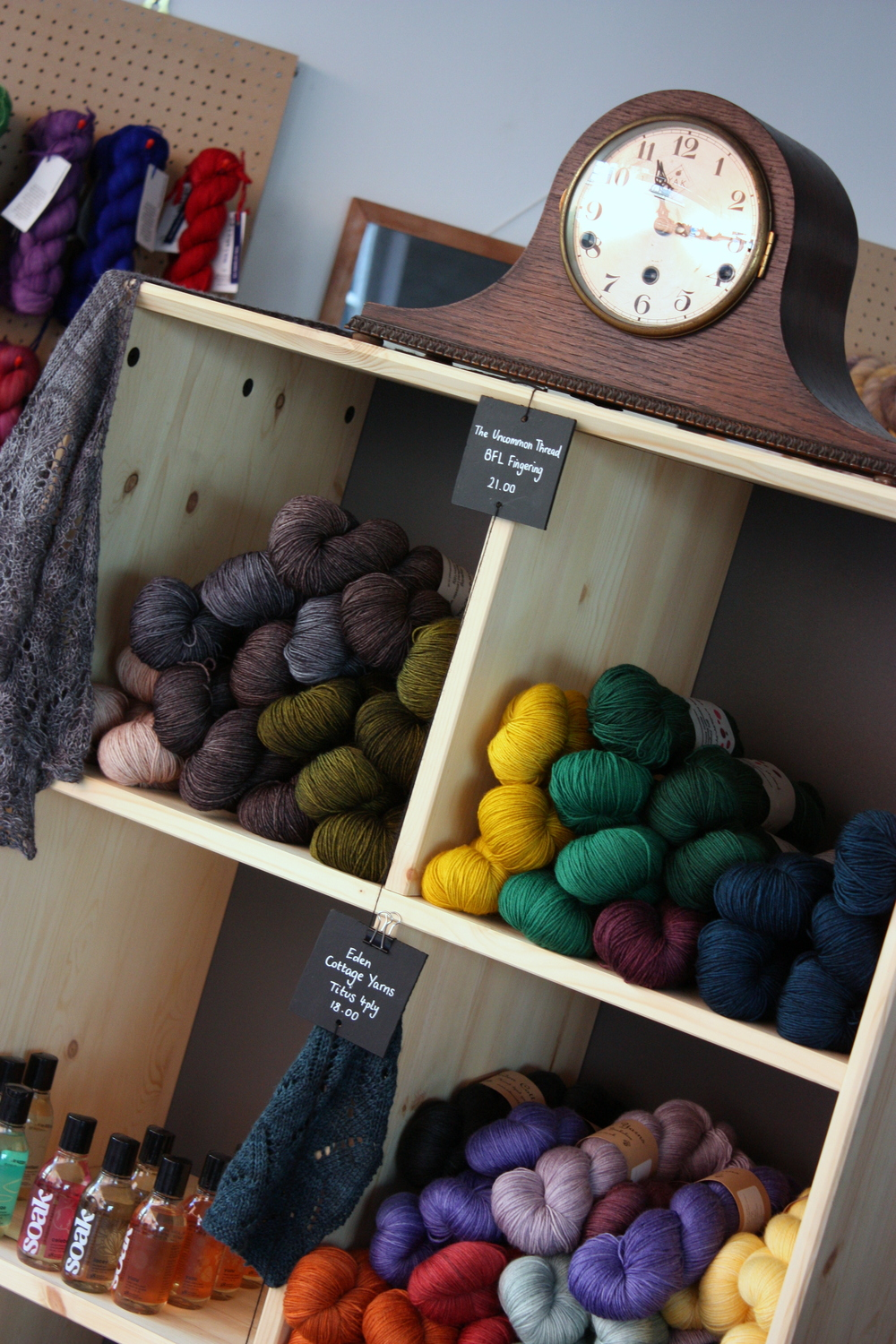 yarn on display at YAK