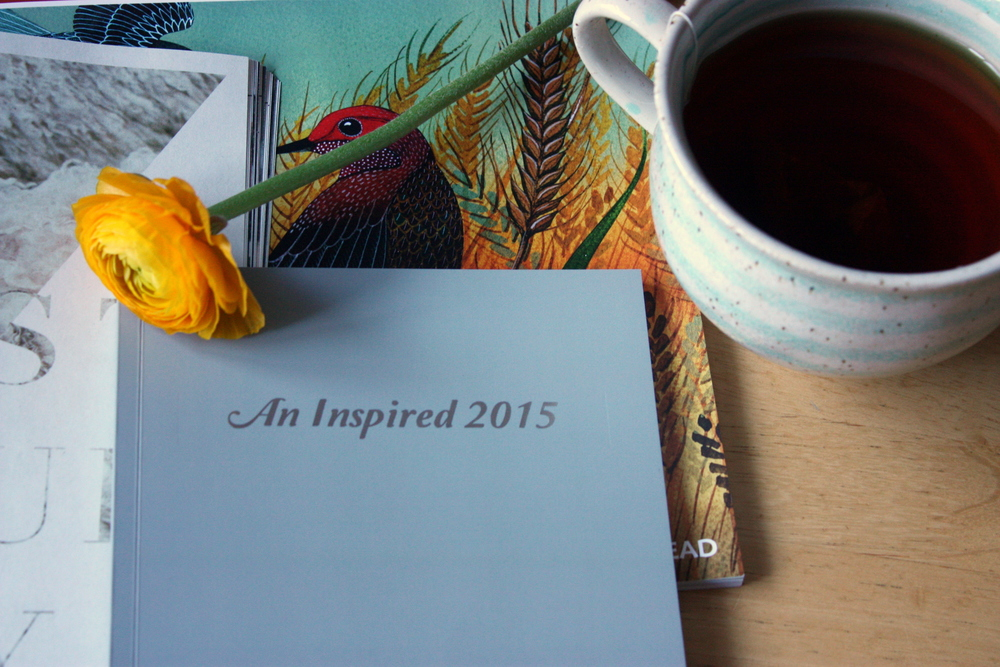 'An Inspired 2015 journal' with silver embossing