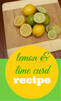 Quick gift idea- use up leftover lemons & limes with this easy curd recipe