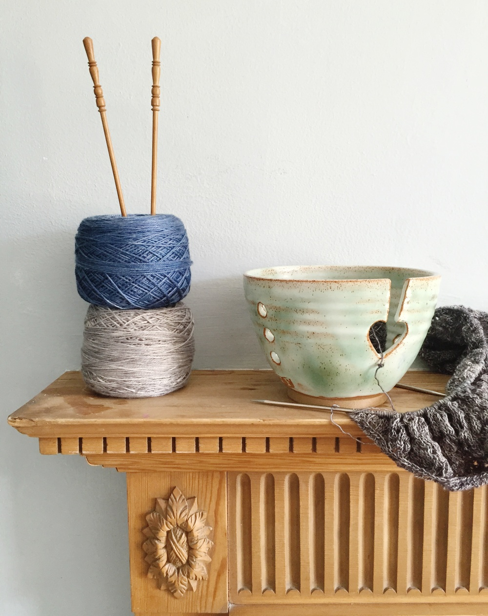 Wendy Fowler handmade yarn bowl