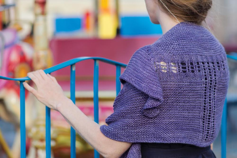 Jetty in ISLINGTON DK Purple Reign, by Linda Lencovic © Juju Vail for Kettle Yarn Co.