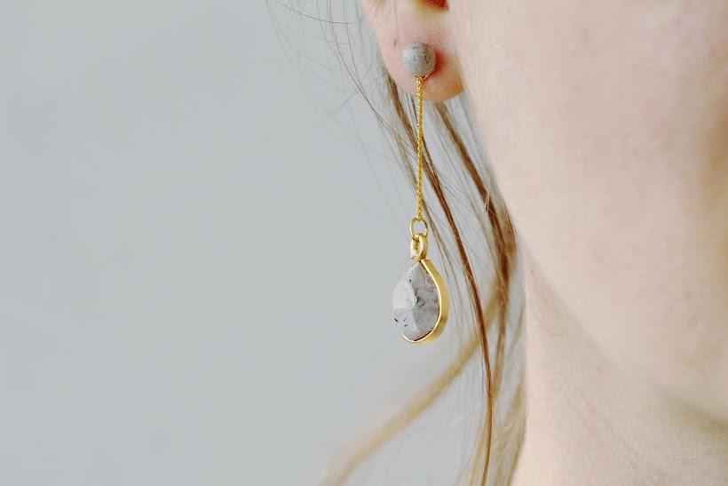 Fall For DIY Faux Labradorite drop earrings