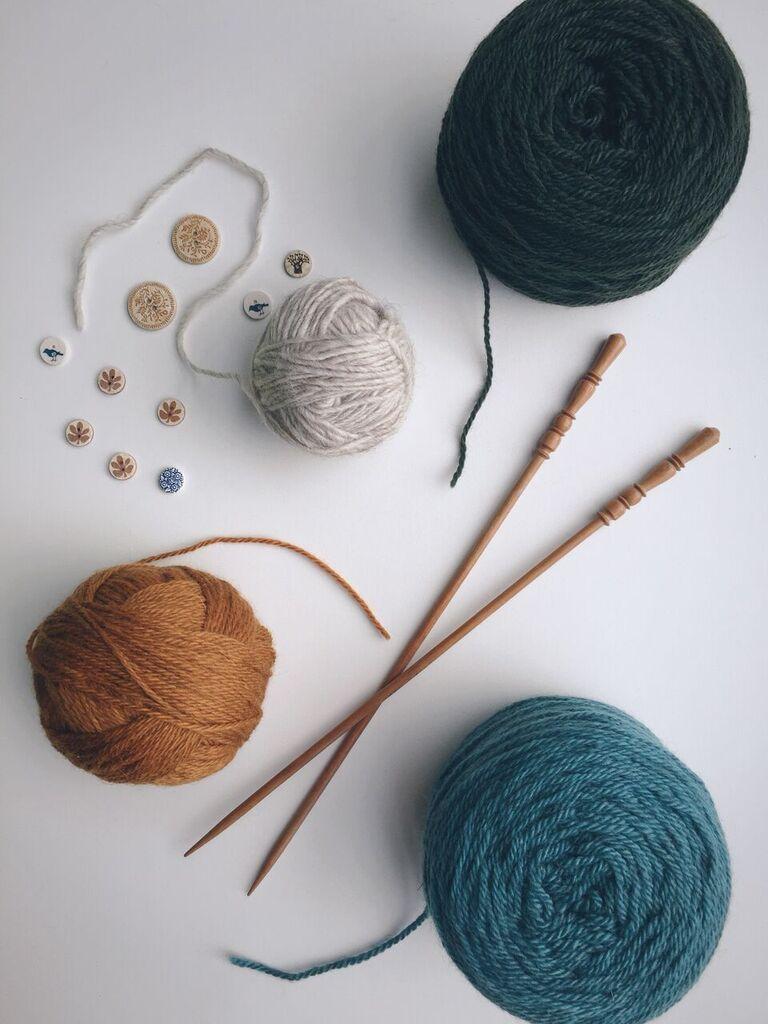 yarn flat lay