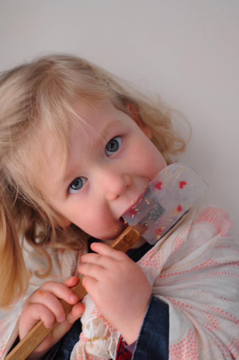 Little One Taste testing cookie recipe