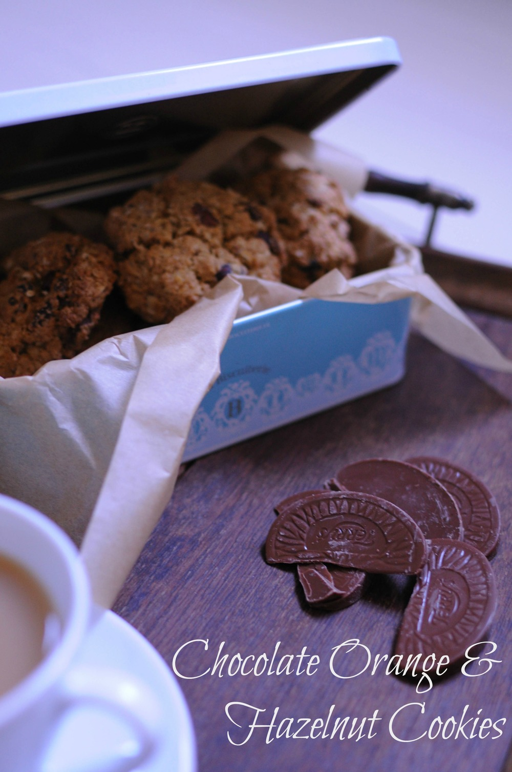Chocolate Orange & Hazelnut Cookie recipe Via A Playful Day