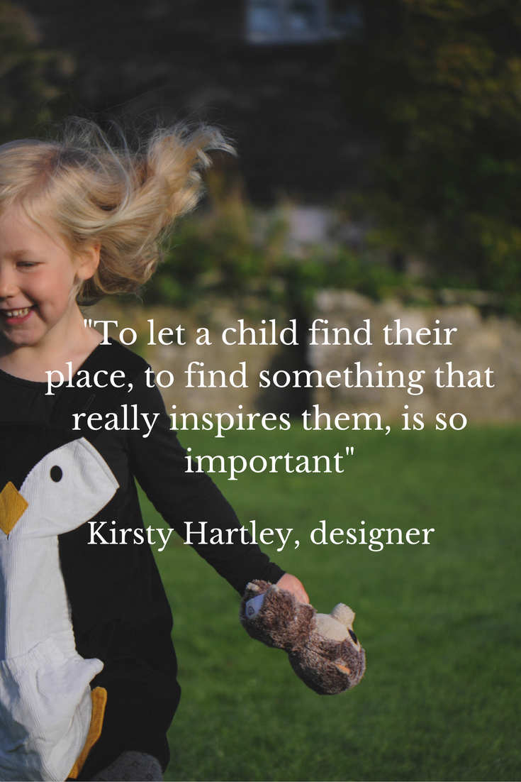 Quote from Kirsty Hartley childrenswear designer