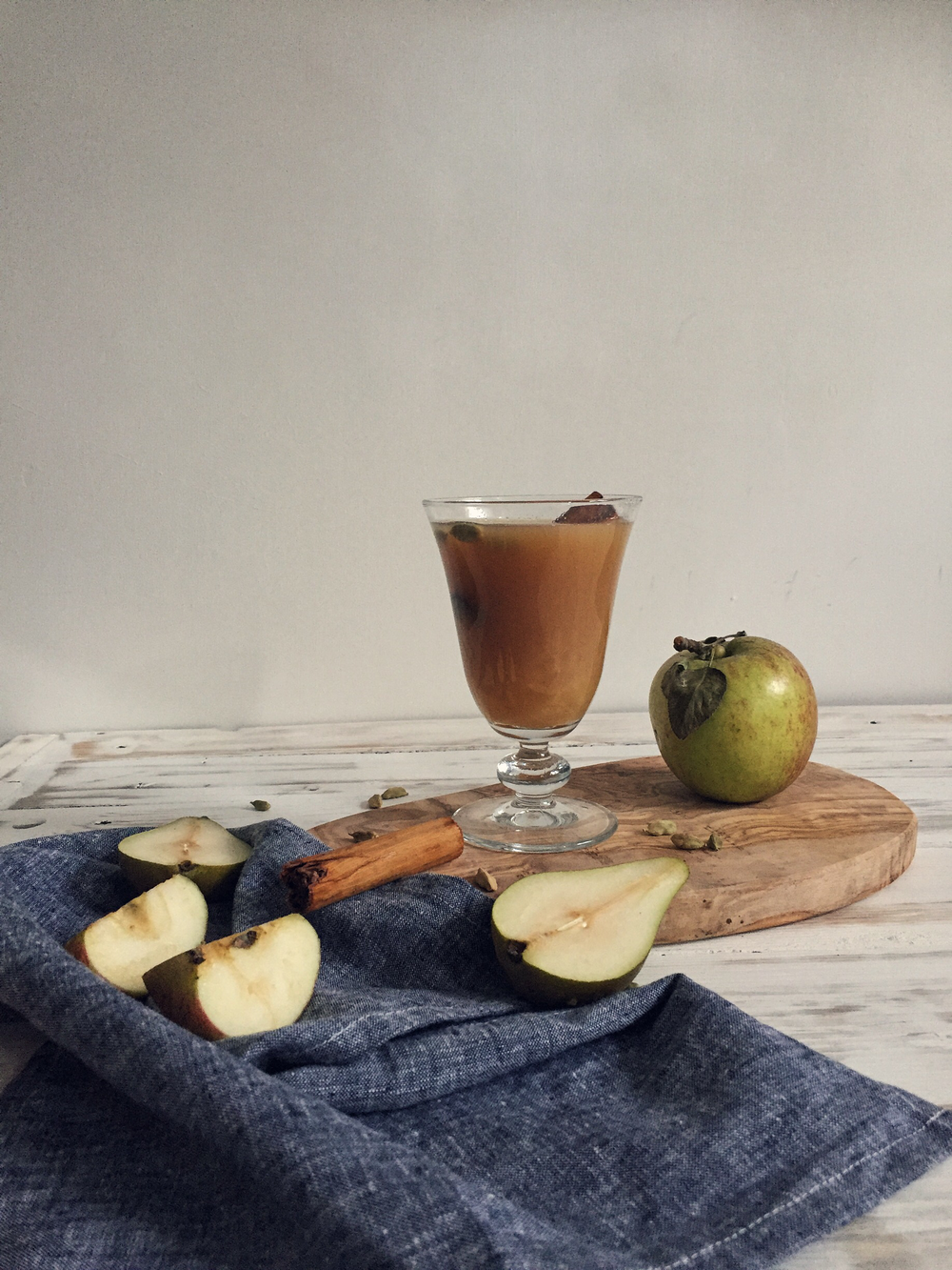 Mulled Pear Autumn Cocktail via A Playful Day