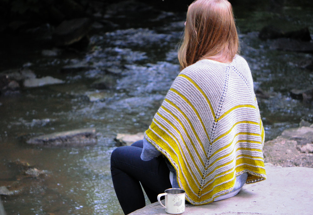 Morning Pages  Shawl by Louise Tilbrook