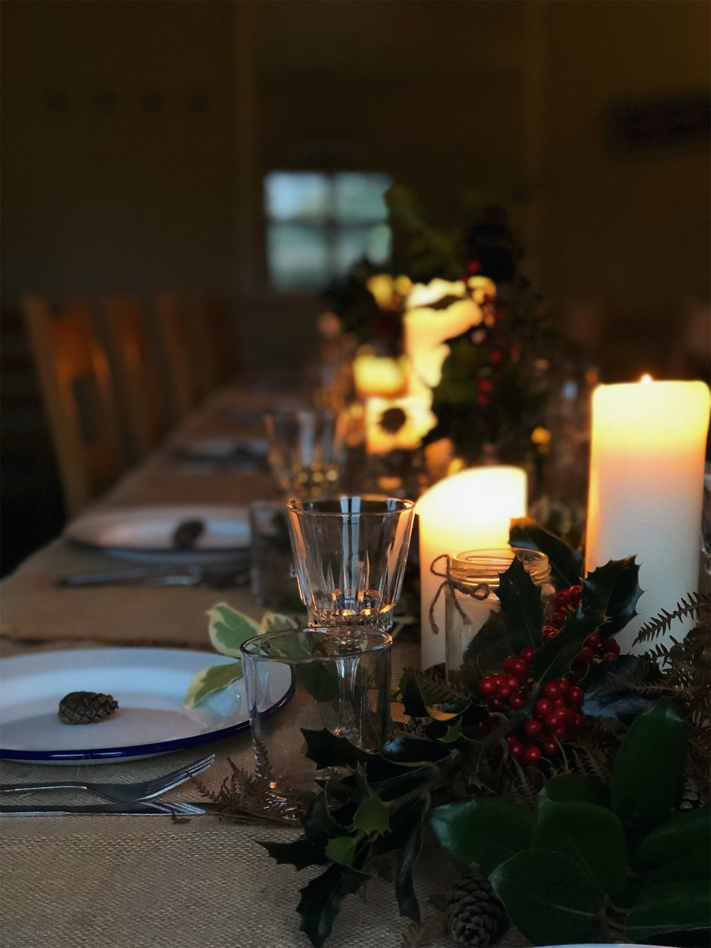 Festive Forage and Feast table