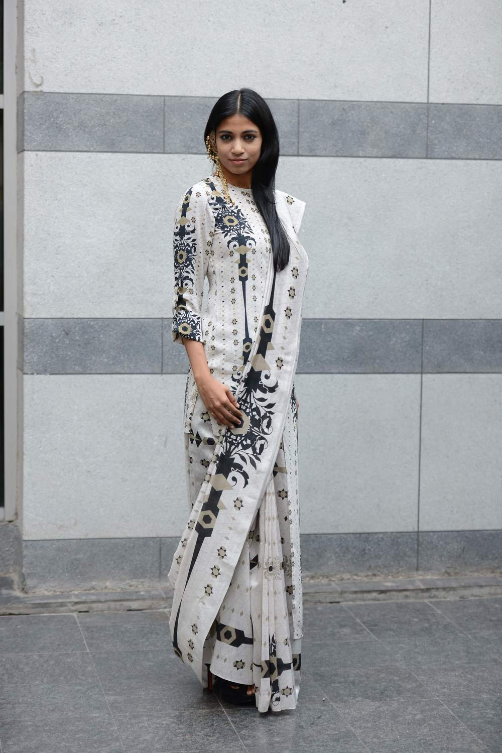 Bhagyashree Raut dressed in Lady Sahara by Payal Singhal
