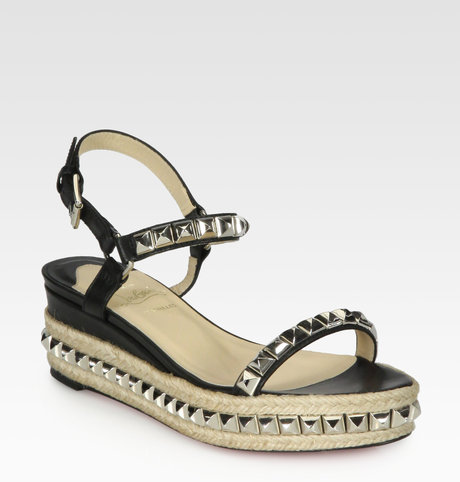 new product 5493c 815d7 WhatAmIWearing ~ Louboutin Studded Espadrille Wedges — The ...