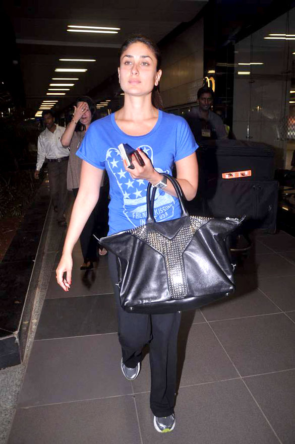 Bag Watch ~ Kareena Kapoor spotted with the YSL Easy Leather Bag ...