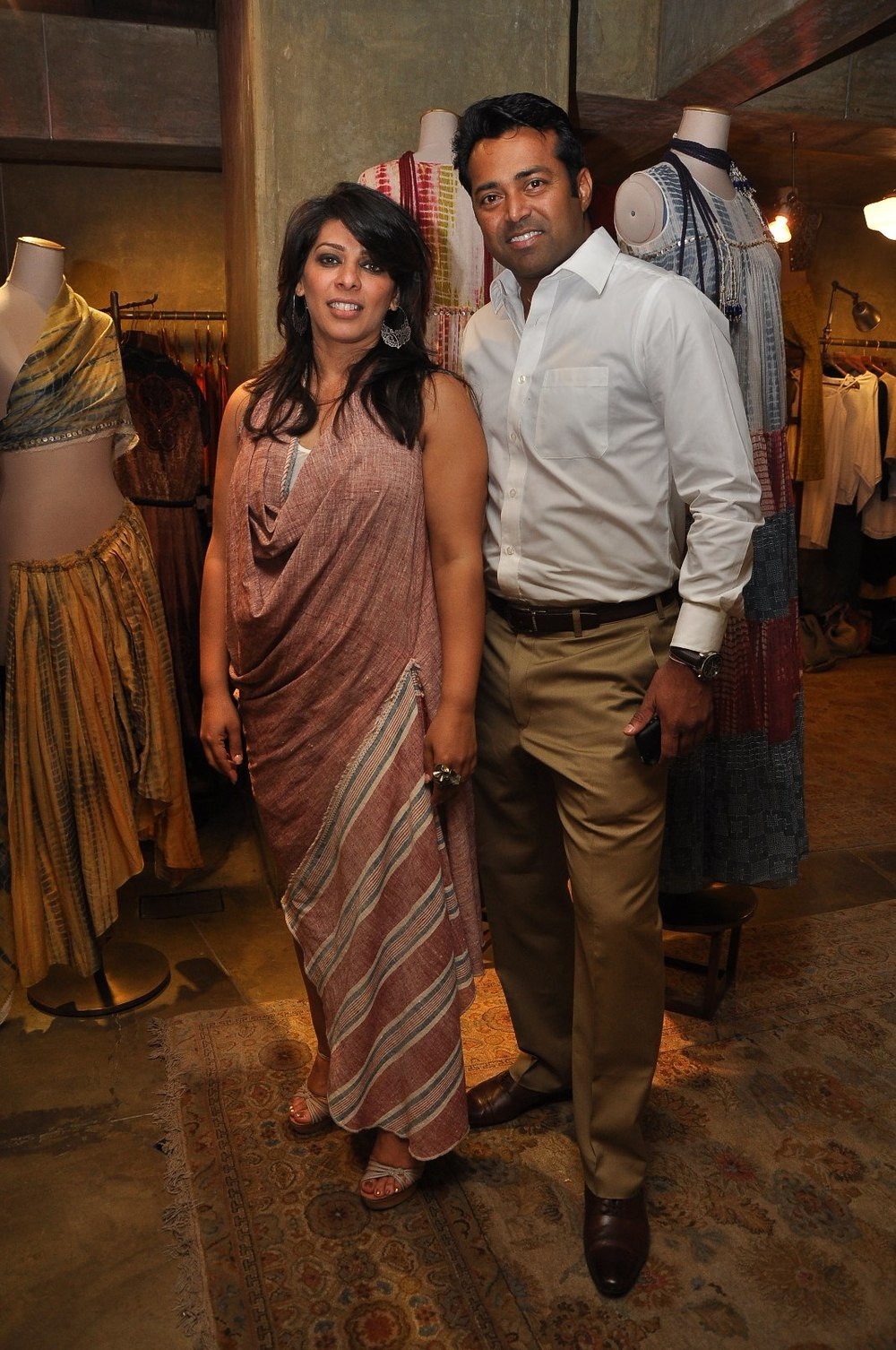 Urvashi Kaur and Leander Paes