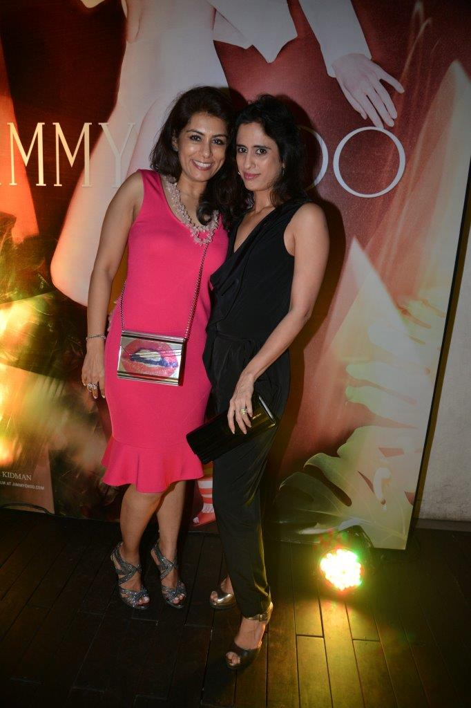 Deepika Gehani and Dilshad Khambatta carrying Jimmy Choo Sweetie & wearing Jimmy Choo Linda