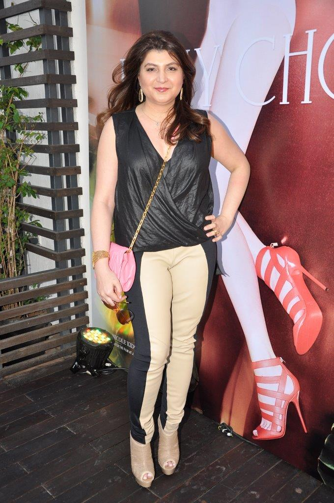 Delna Poonawala wearing Jimmy Choo shoes