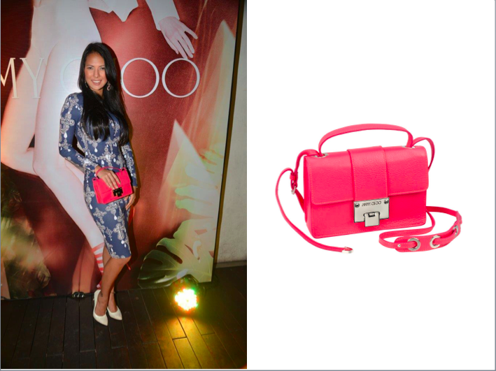 Rochelle Rao carrying Jimmy Choo Rebel
