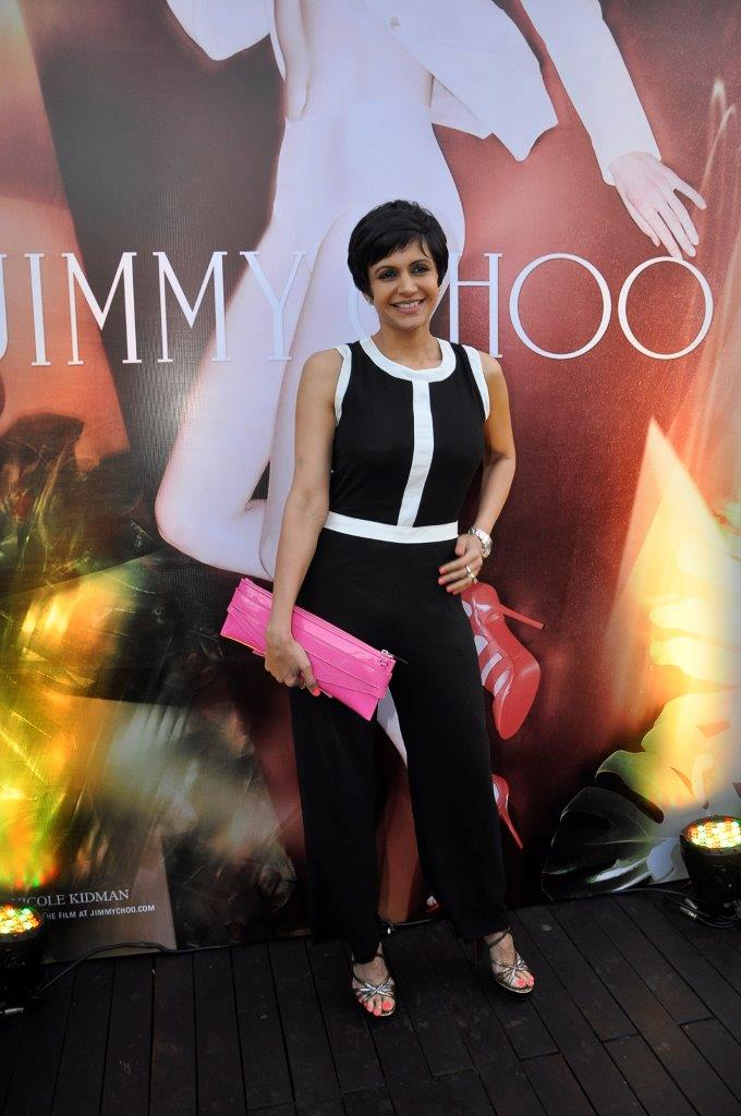 Mandira Bedi wearing Jimmy Choo shoes