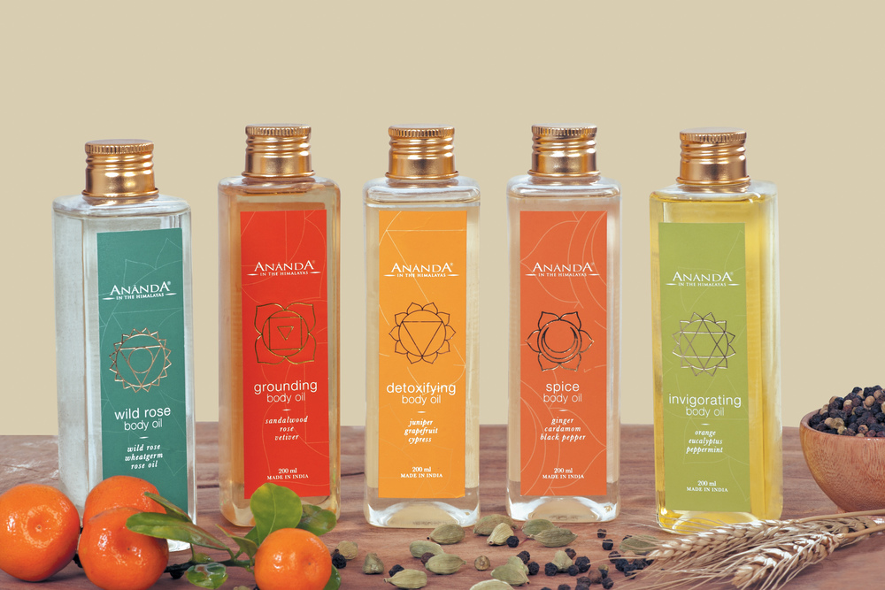 Ananda in the Himalayas Body and Skin Care Range