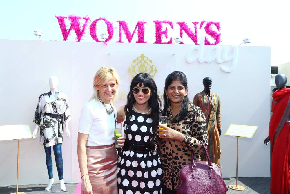 DLF Emporio - Women's Day - Neha Lidder (centre) with Burberry Reps.jpg