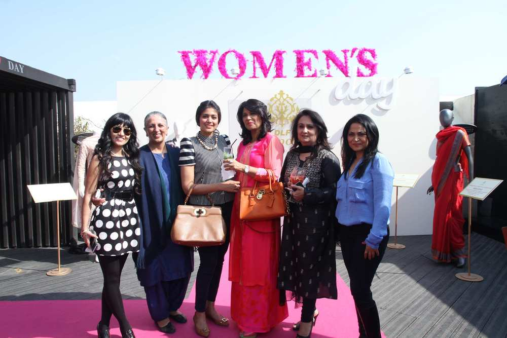 DLF Emporio - Women's Day - Neha Lidder, Head - Marketing (L) with the guests.jpg