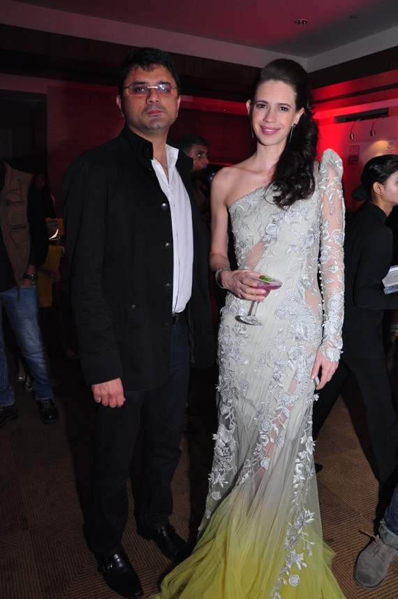 Mr. Jackie Matai (Founder Aspri Spirits) & Kalki Koechlinat the Stoli Lounge at Lakme Fashion Week