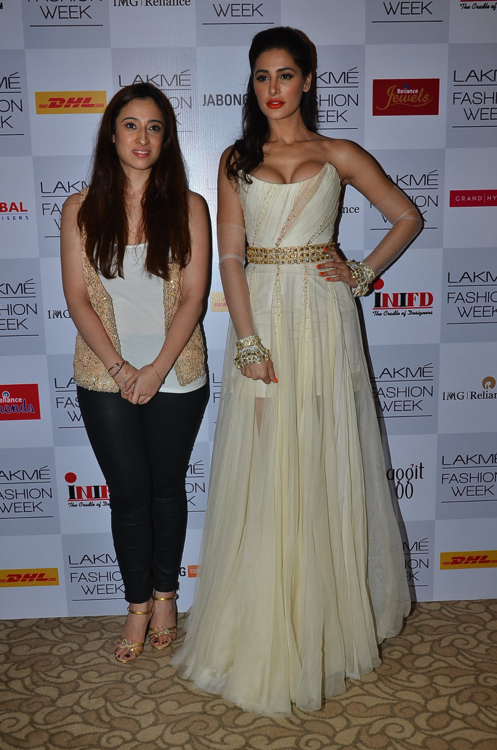 Shehla Khan with Nargis Fakhri