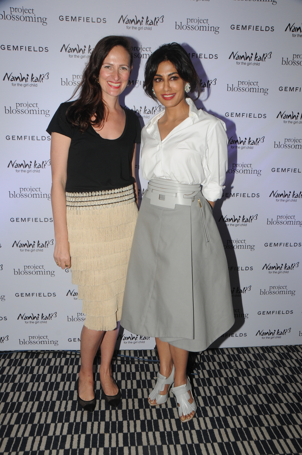 Chitrangda Singh, Project Blossoming Ambassador and Anna Haber, Global Marketing Director, Gemfields at the Project Blossoming