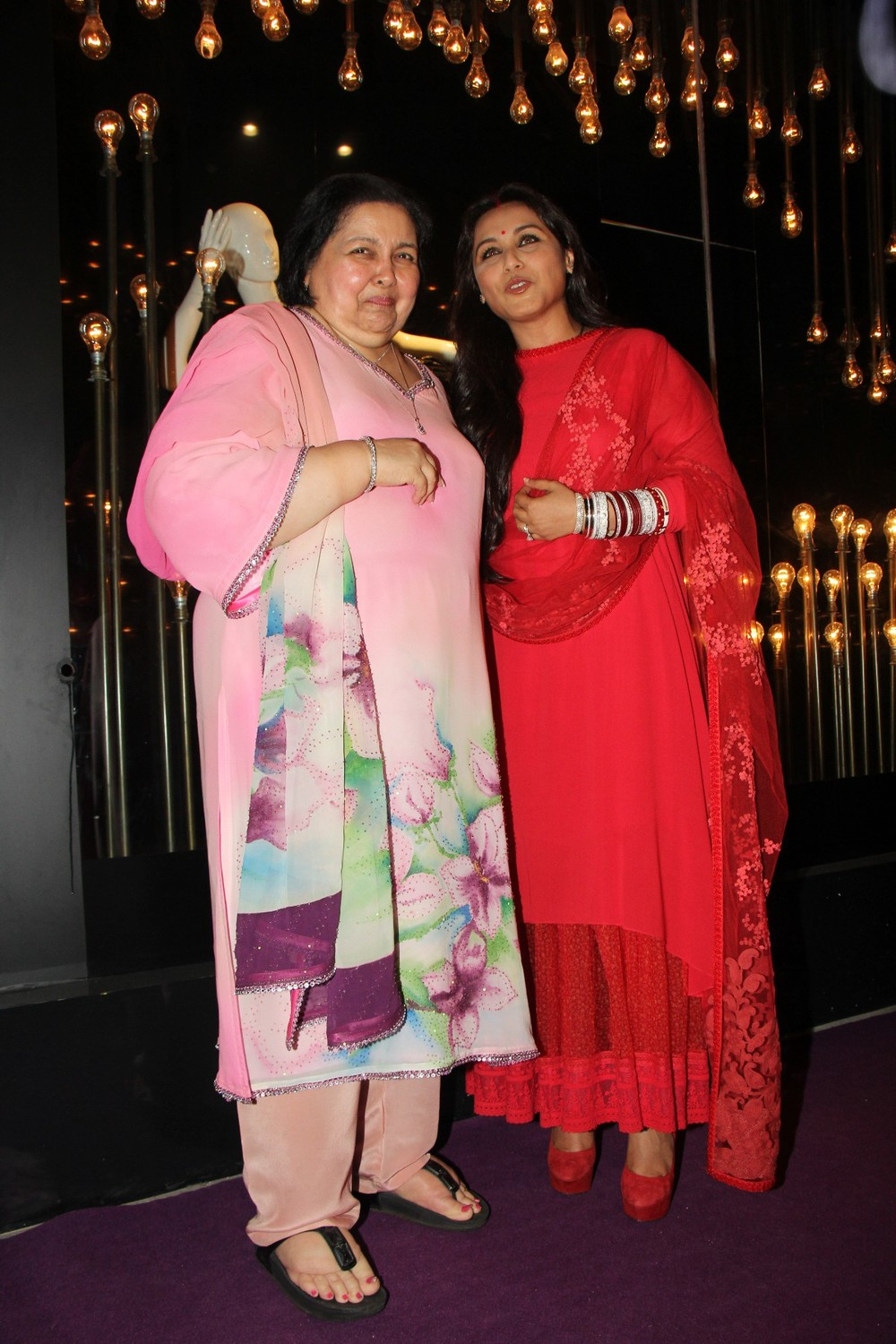 Ms Pamela Chopra with Rani Mukerji at DIVA'NI store launch