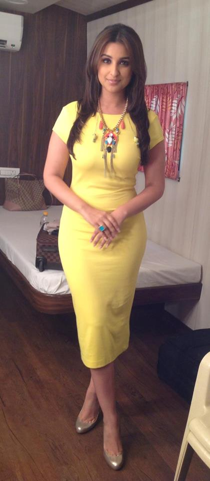 Parineeti Chopra in Zara and Christian Louboutin