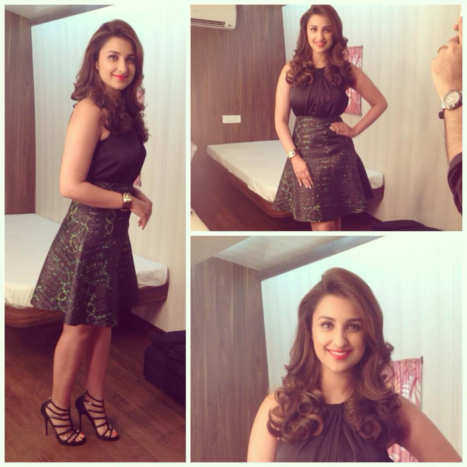 Parineeti Chopra in Kenneth Cole, Bebe and Jimmy Choo