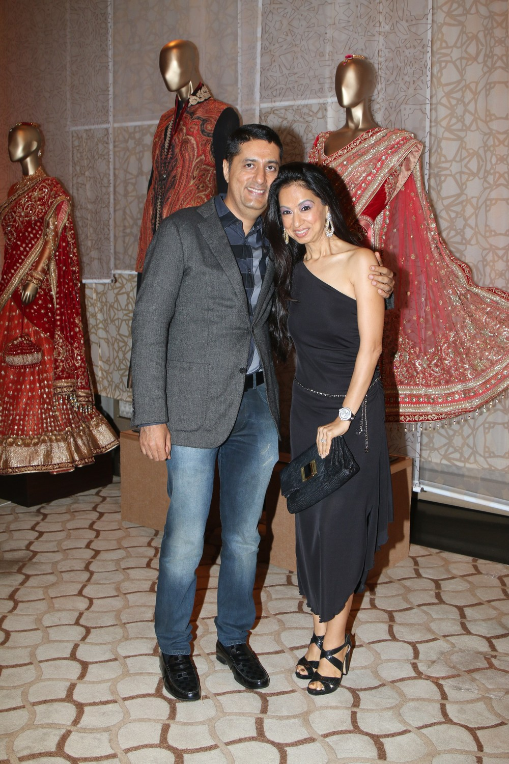Sunil Datwani of Gehna Jewelers along with his wife