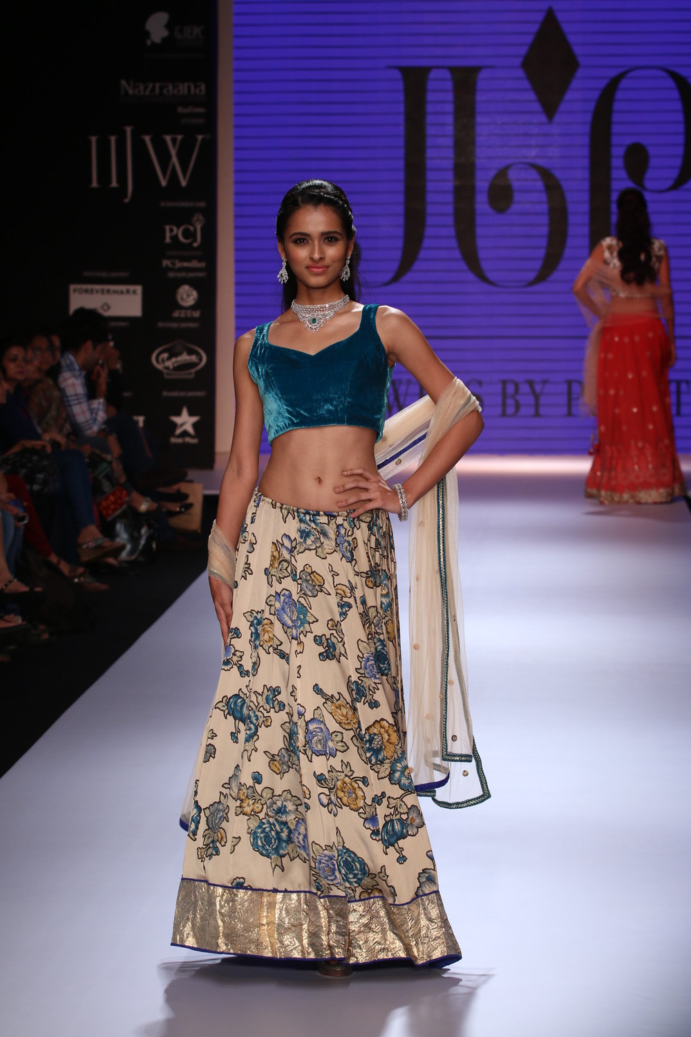 Seen at India International Jewellery Week - A model walking for Jewels by Preeti 1.JPG