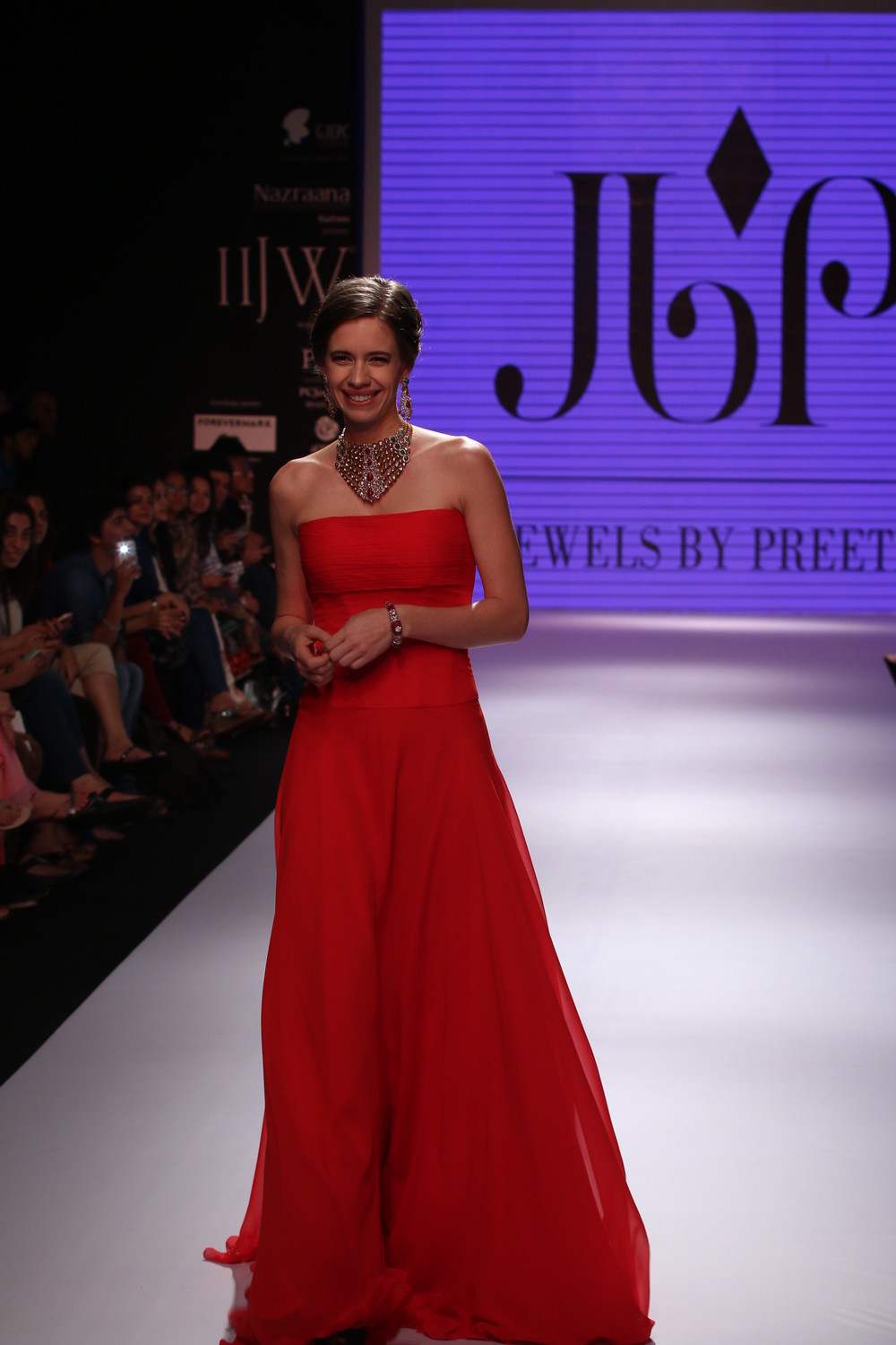 Seen at India International jewellery week - Kalki Koechlin walking for Jewels by Preeti.JPG