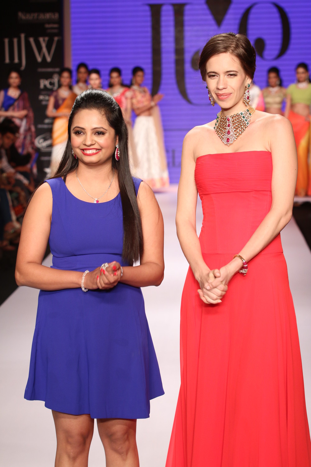 Seen at India International jewellery week - Preeti Jain with showstopper Kalki Koechlin.JPG