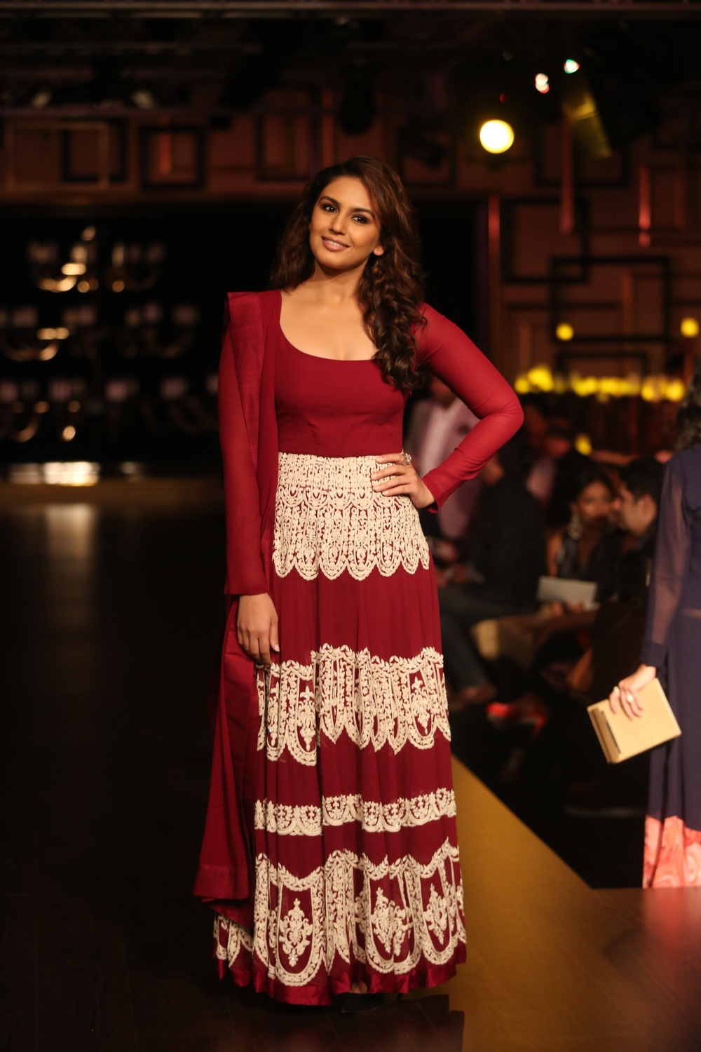 Huma Qureshi in Manish Malhotra at India Couture Week 2014