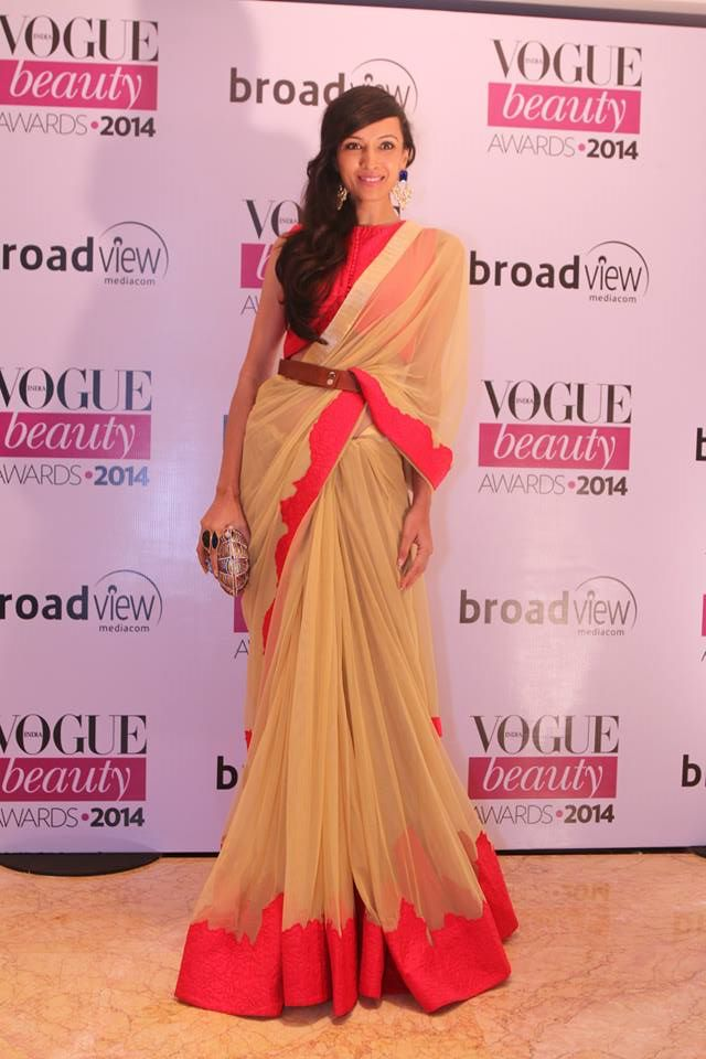 Dipanita Sharma in Frou Frou by Archana Rao at the Vogue Beauty Awards 2014