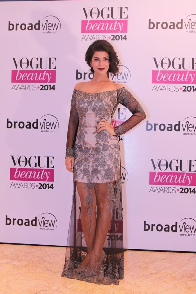 Nimrat Kaur in Shehlaa by Shehlaa Khan at the Vogue Beauty Awards 2014
