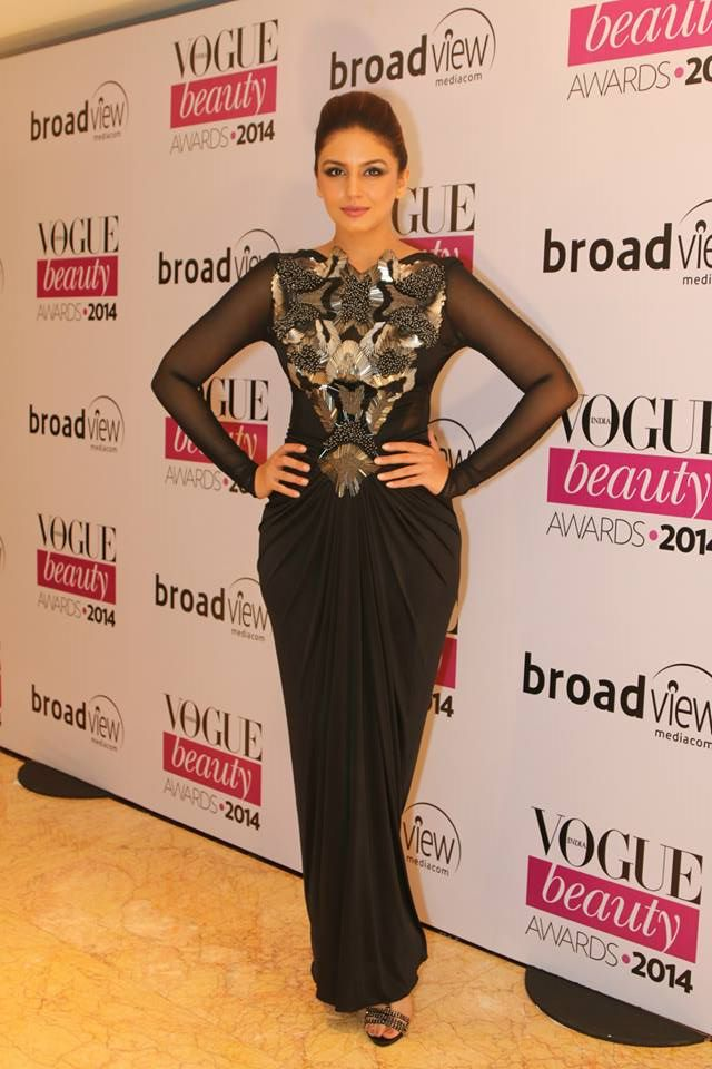 Huma Qureshi in Amit Agarwal at the Vogue Beauty Awards 2014