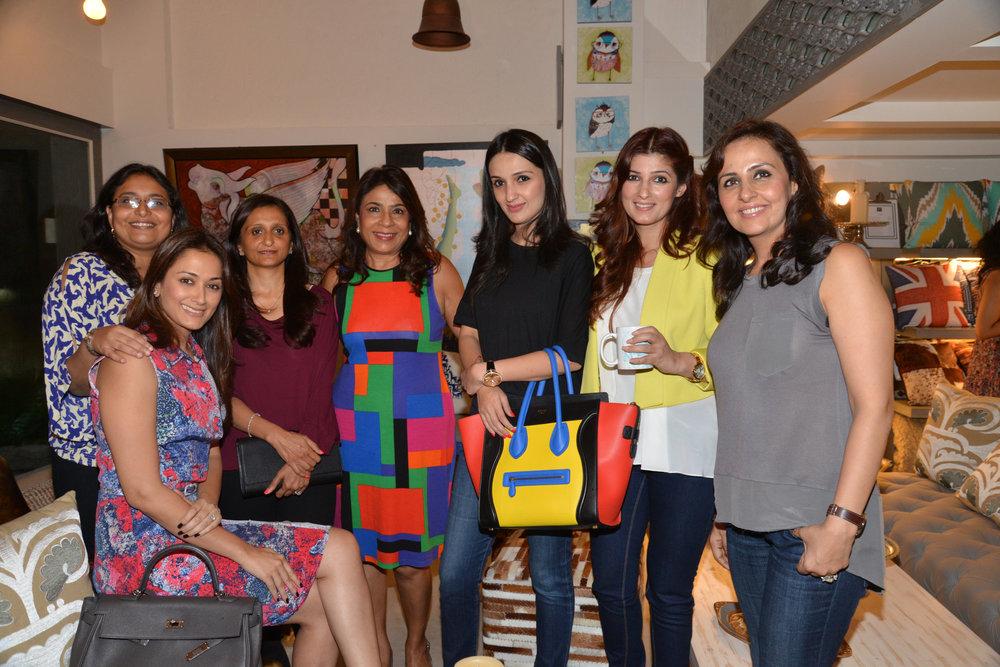 Gayatri Oberoi, Sanvari Alagh Nair, Bindu Oberoi, Rashmi Uday Singh, Anu Dewan,Twinkle Khanna and Alka Hiranandani