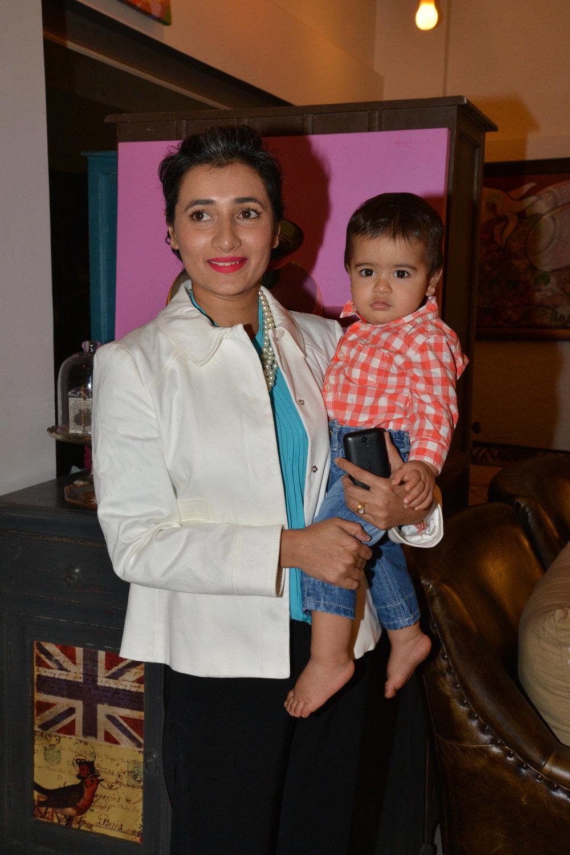 Schauna Chauhan with her son