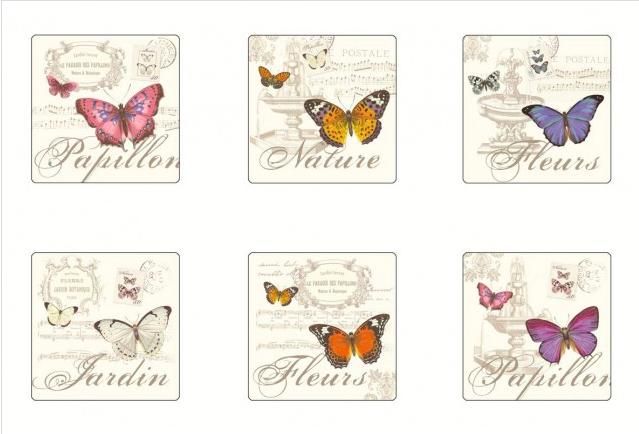 Papillon Cork Based Coasters