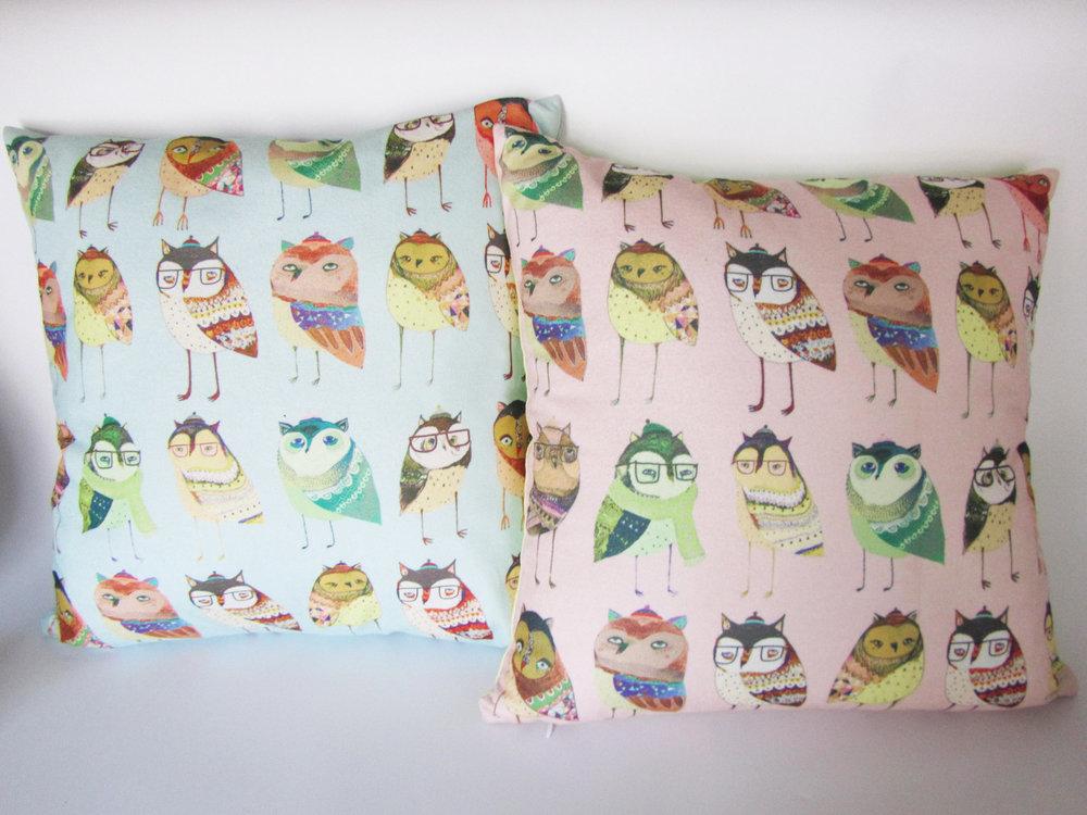 Mr. Owl Cushions