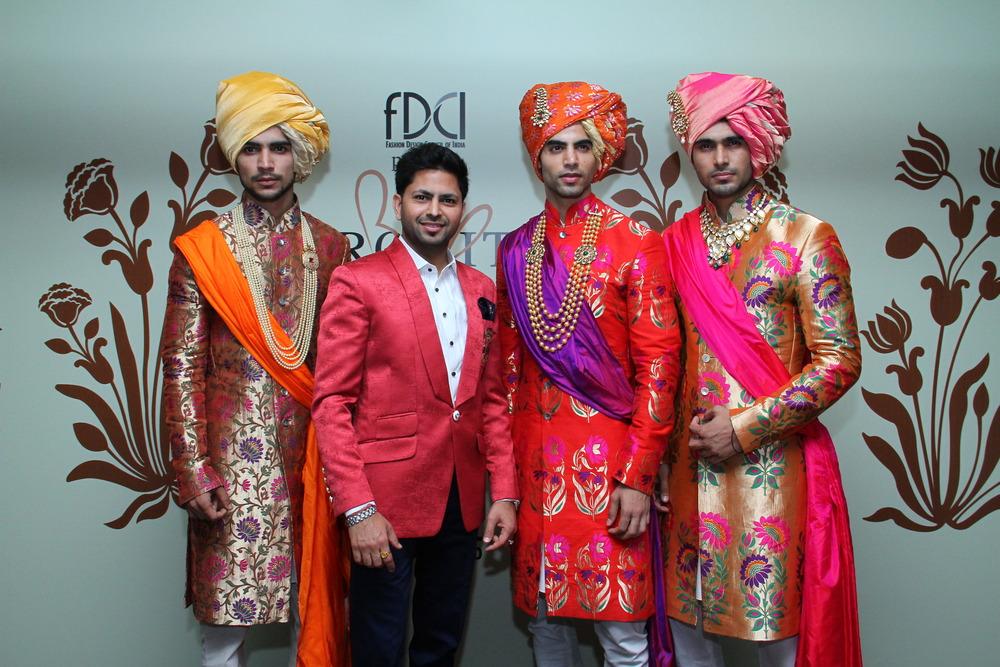 Designer Praveen Goel from Shree Raj  Mahal Jewelers & Models wearing Shree Raj Mahal Jewelers Jewelery-1.JPG
