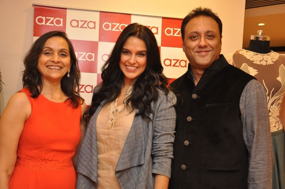 Alka Nishar of AZA, Neha Dhupia and Varun Bahl