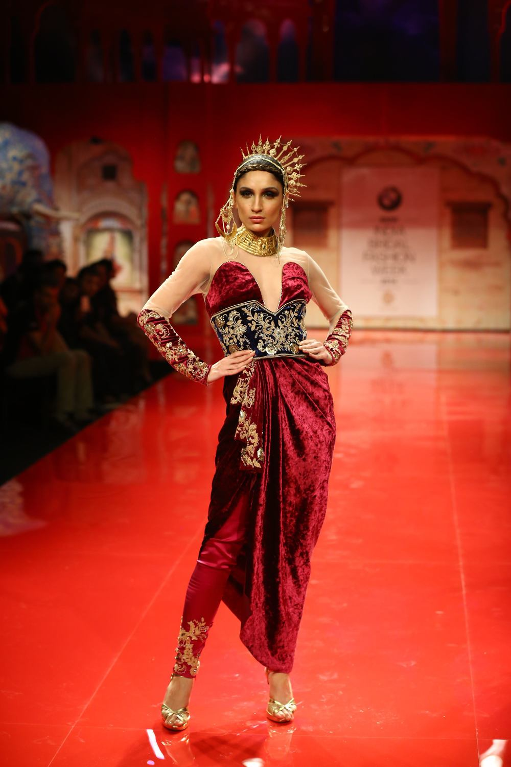 Seen at BMW India Bridal Fashion Week 2014 in association with AZVA at Suneet Varma's show at DLF Emporio (8).jpg