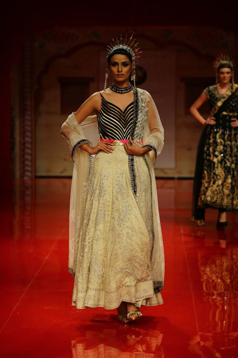 Seen at BMW India Bridal Fashion Week 2014 in association with AZVA at Suneet Varma's show at DLF Emporio (2).jpg